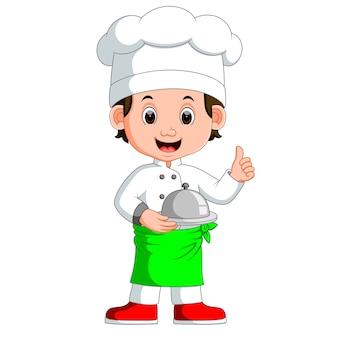 Cartone animato di ragazzo chef