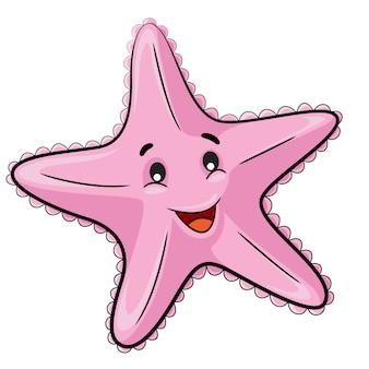Cartone animato di stelle marine