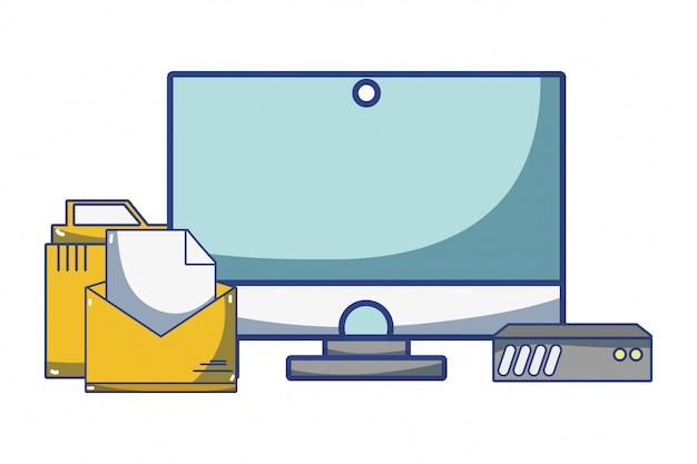 Cartone animato di tecnologia