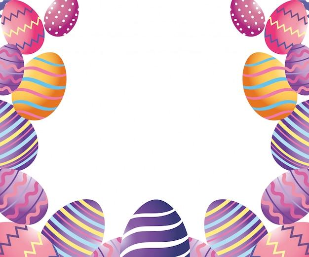 Cartone animato di uova di pasqua