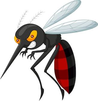 Cartone animato di zanzara arrabbiato