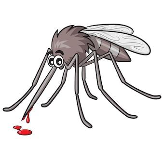 Cartone animato di zanzara