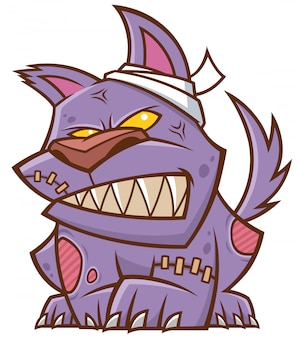 Cartone animato di zombie cane