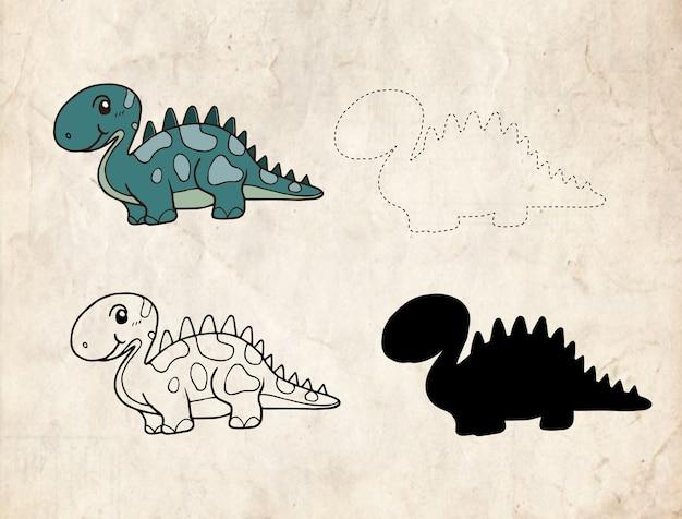 Cartone animato dinosauro