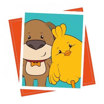 Cartone animato divertente animali domestici