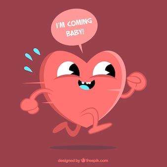 Cartone animato divertente cuore
