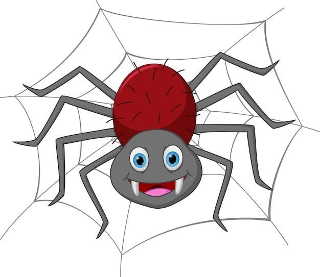 Cartone animato divertente ragno scaricare vettori premium