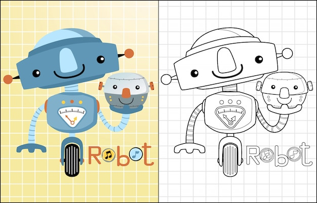 Cartone animato divertente robot