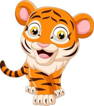 Cartone animato divertente tigre del bambino
