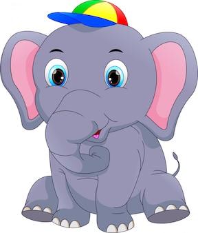 Cartone animato elefante carino