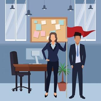 Cartone animato esecutivo aziendale