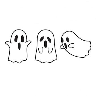 Cartone animato fantasma di halloween
