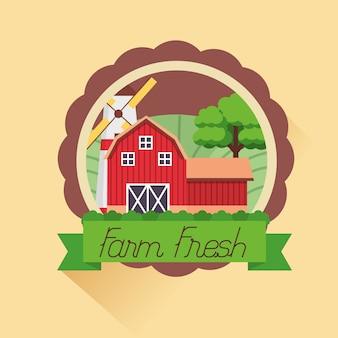 Cartone animato fresco di fattoria