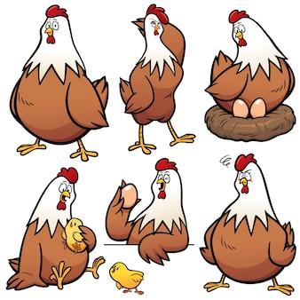 Cartone animato gallina personaggio
