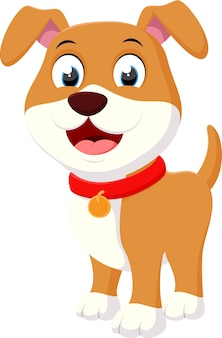 Cartone animato happy dog
