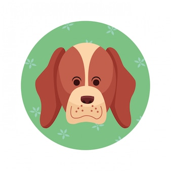 Cartone animato icona cane carino