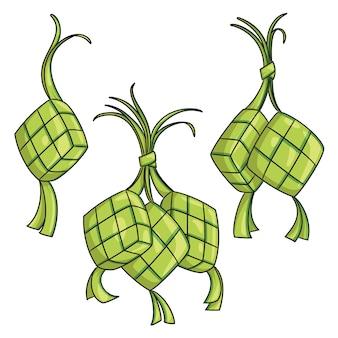 Cartone animato ketupat