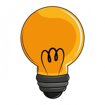Cartone animato leggero lampadina