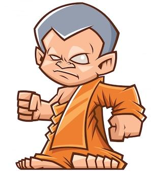 Cartone animato monaco buddista