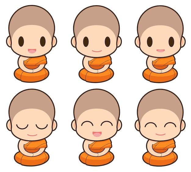 Cartone animato monaco