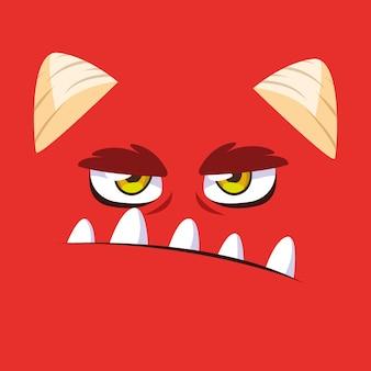 Cartone animato mostro rosso