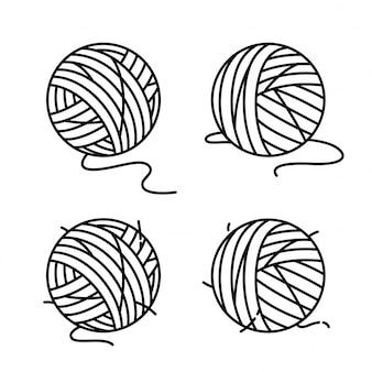 Cartone animato palla filato
