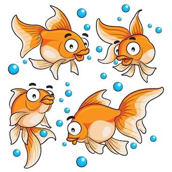 Cartone animato pesce rosso