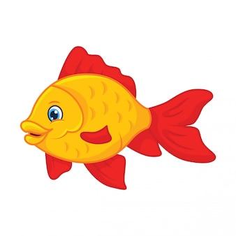 Cartone animato pesci rossi
