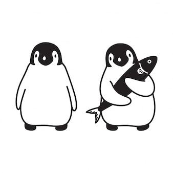 Cartone animato pinguino