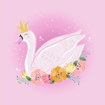 Cartone animato principessa cigno