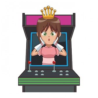 Cartone animato principessa videogioco