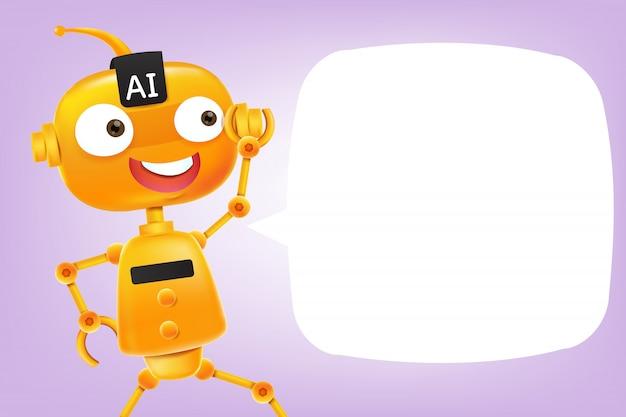 Cartone animato robot ai