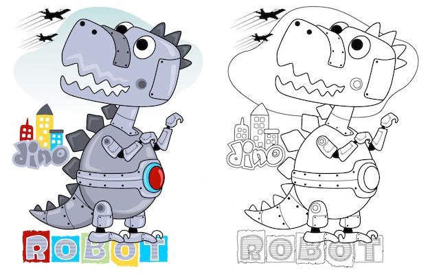 Cartone animato robot dino