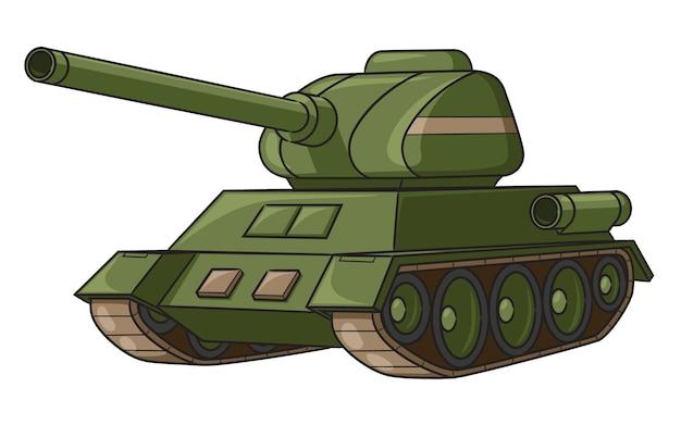 Cartone animato serbatoio di guerra