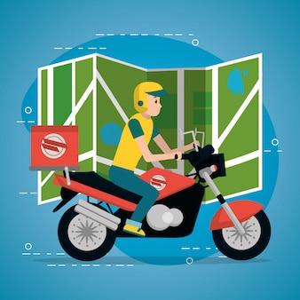 Cartone animato servizio di consegna