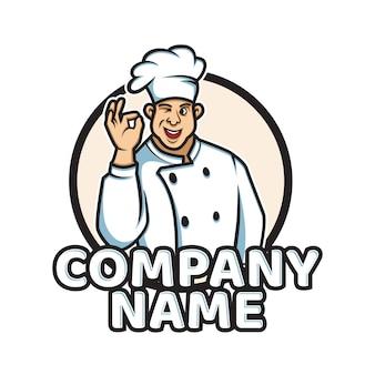 Cartone animato set di chef felice