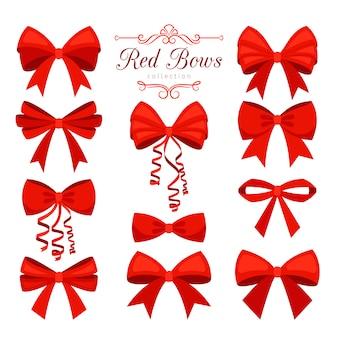 Cartone animato set fiocco rosso