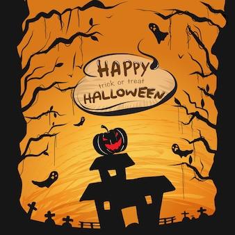 Cartone animato sfondo halloween