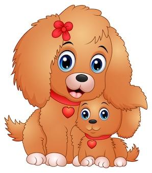 Cartone animato simpatici cagnolini