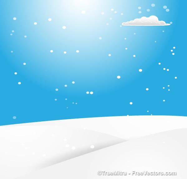Cartone animato snow day