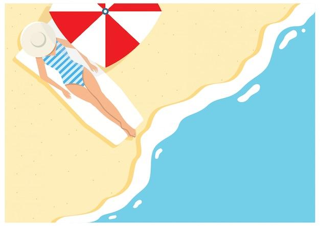 Cartone animato spiaggia