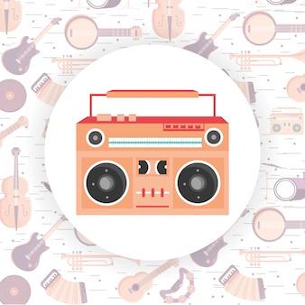 Cartone animato strumento musicale