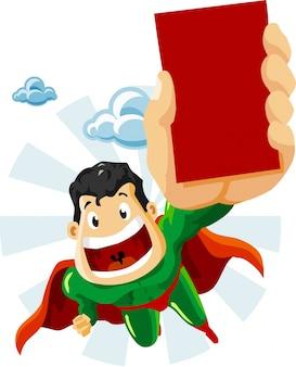 Cartone animato supereroe