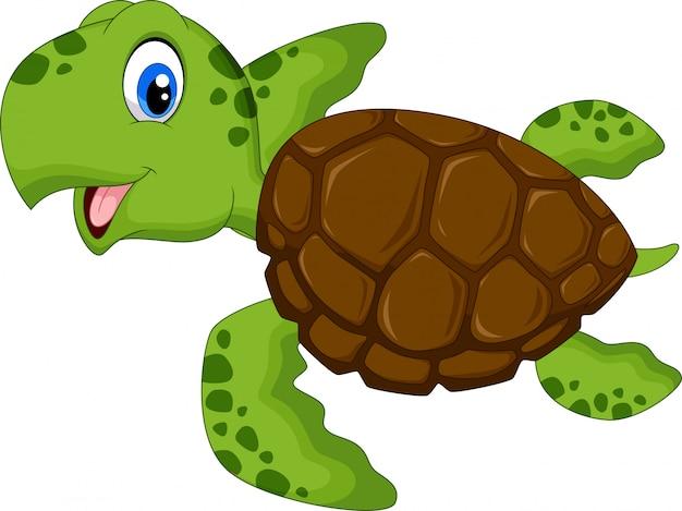 Cartone animato tartaruga di mare