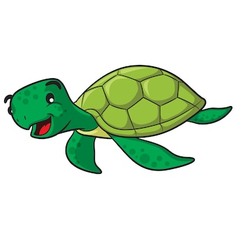 Cartone animato tartaruga marina