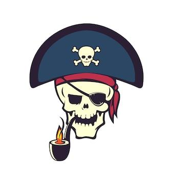 Cartone animato teschio pirata
