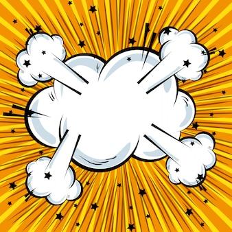 Cartone animato testo comico esplosione pop art sfondo