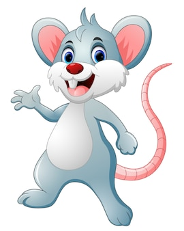 Cartone animato topo felice