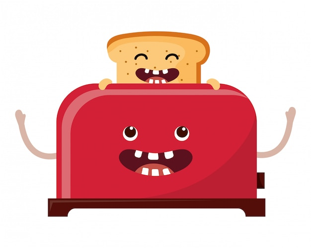Cartone animato tostapane