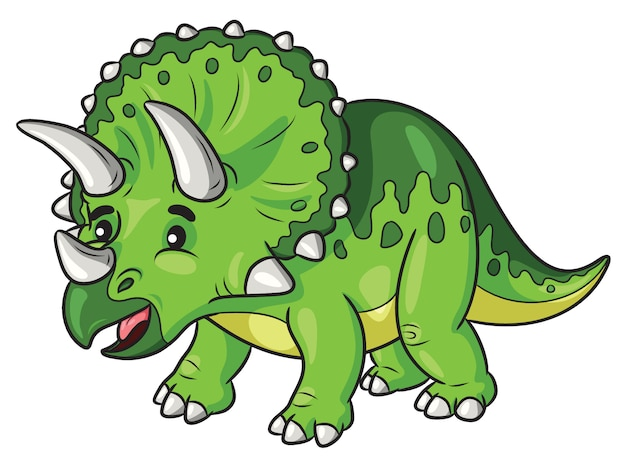 Cartone animato triceratopo